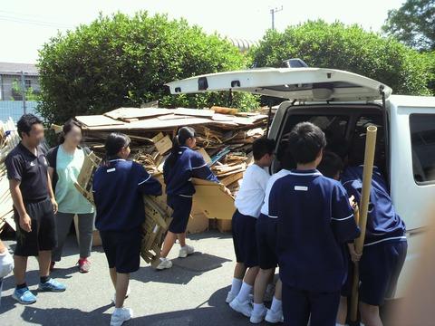 【社長コラム】学校、保護者、地域の絆が紡がれた資源回収