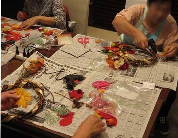 【イベント】大人の秋色リース作り教室、開催しました